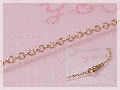 画像1: 丸アズキネックレス(長さ50cm:幅1.3mm)/ピンクゴールドK18