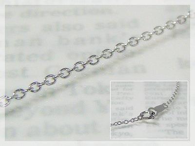 画像1: 丸アズキネックレス(長さ40cm:幅1.3mm)/ホワイトゴールドK18