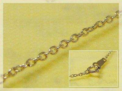 画像1: 丸アズキネックレス(長さ50cm:幅1.3mm)/イエローゴールドK10