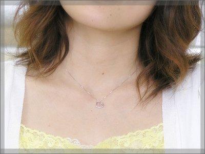 画像2: オープンハート誕生石ペンダントヘッド(トップ) / ホワイトゴールド [ムーンストーン]※チェーンは別売りです