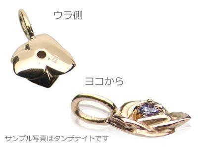 画像2: ローズ(薔薇)天然誕生石ペンダント/K10ピンクゴールド[アクアマリン]※ネックレスチェーンは別売りです