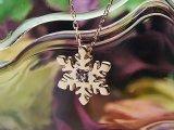 【送料無料】スノー(雪の結晶)天然誕生石ペンダント/K10ピンクゴールド[アメジスト]※ネックレスチェーン付き
