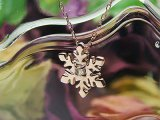 スノー(雪の結晶)天然誕生石ペンダント/K10ピンクゴールド[ムーンストーン]※ネックレスチェーン付き