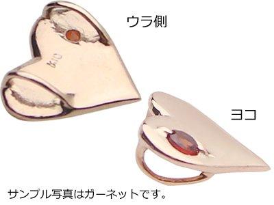 画像2: トランプハート天然誕生石ペンダント/K10ピンクゴールド[タンザナイト]※ネックレスチェーンは別売りです