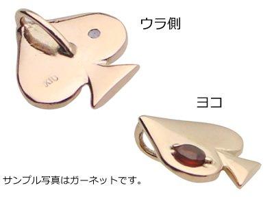 画像2: トランプスペード天然誕生石ペンダント/K10ピンクゴールド[ダイヤモンド]※ネックレスチェーンは別売りです